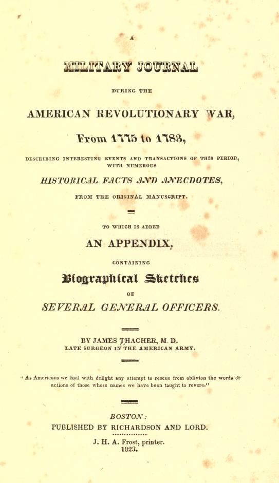 If You Only Read One American Revolutionary War Diary