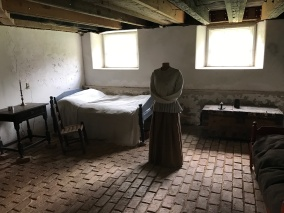 Basement room where his wife lived