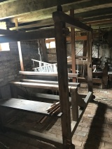 Basement weaving room