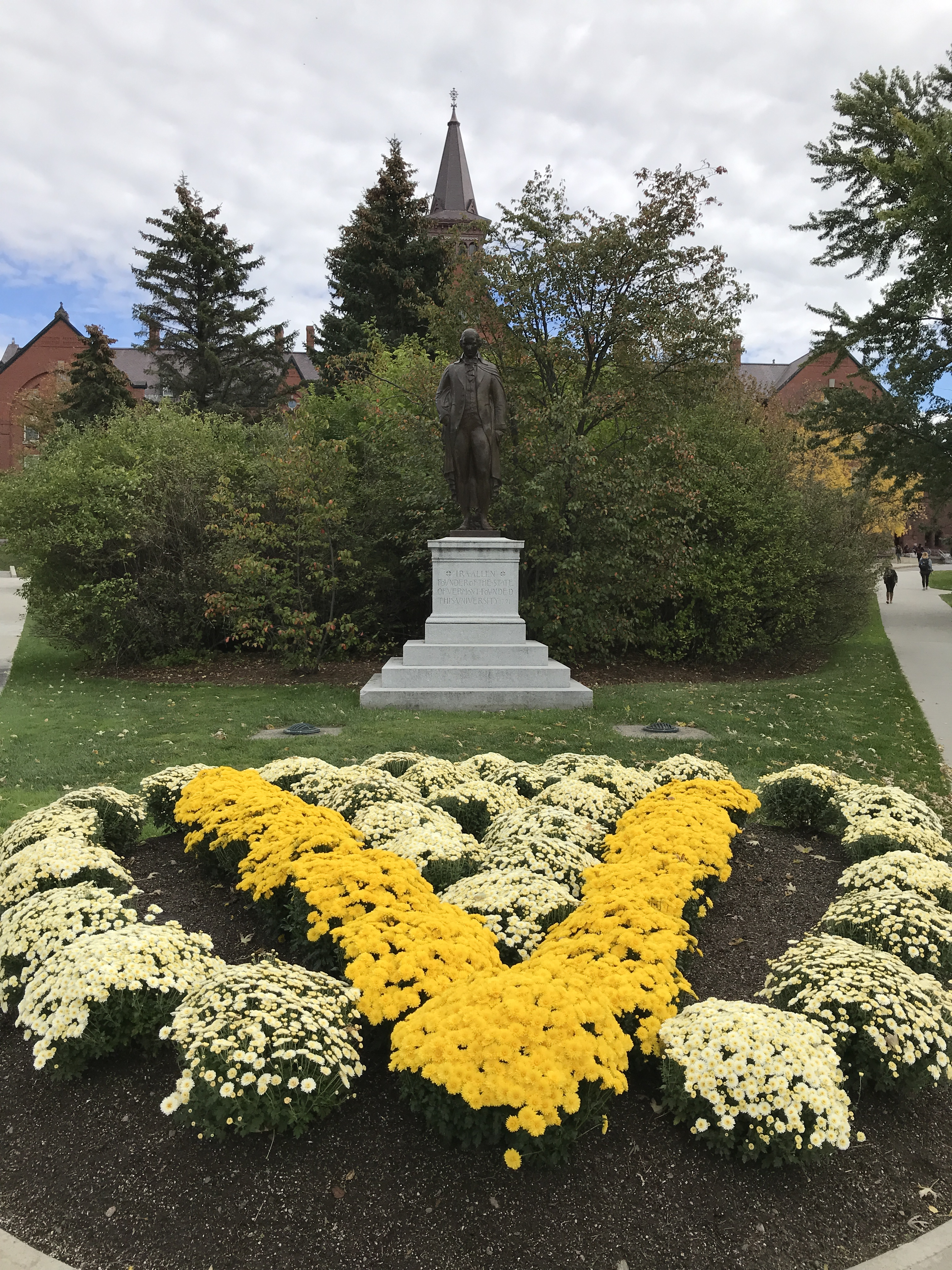 Ira Allen on the campus of the University of Vermont in Burlington